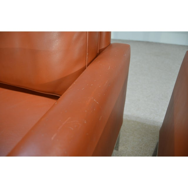 Nicos Zographos Soft Leather Club Lounge Chairs - a Pair For Sale - Image 5 of 6