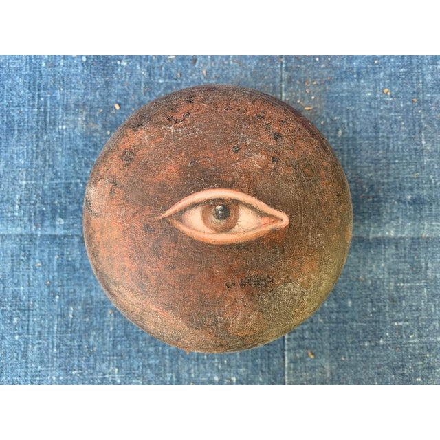 Antique Asian Geisha Box With Eye For Sale - Image 10 of 10