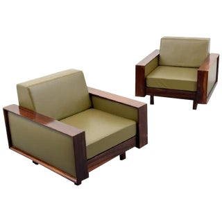 Gorgeous Pair of Celina Decoracoes Rosewood Lounge Chairs, Brazil, 1950s For Sale