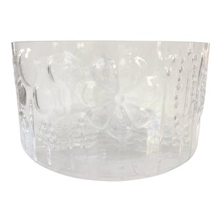 1960s Mid-Century Modern Oiva Toikka Flora Glass Bowl by Arabia Finland For Sale