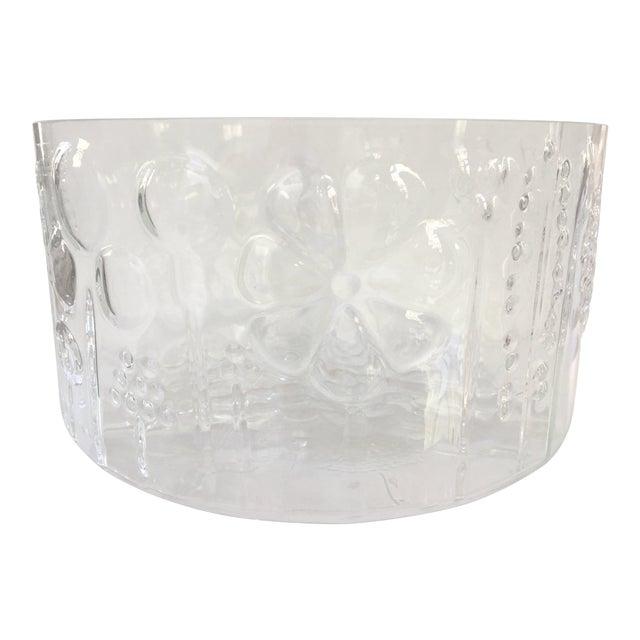 1960s Mid-Century Modern Oiva Toikka Flora Glass Bowl by Arabia Finland For Sale