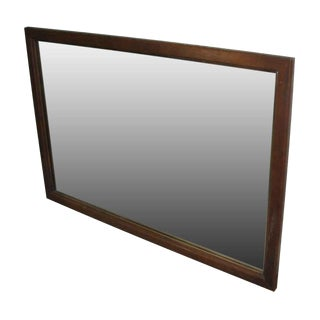 Simple Wood Framed Vintage Mirror
