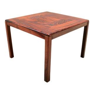 Danish Modern Square Rosewood Side Table by Vejle Stole Og Møbelfabrik For Sale