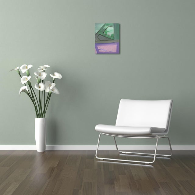 """Abstract Ashlynn Browning """"Purple Lush"""", Painting For Sale - Image 3 of 4"""