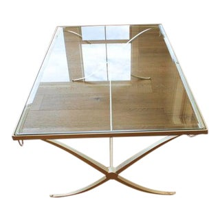 1990s Barbara Barry for Baker Gilt Wrought Iron Coffee Table For Sale