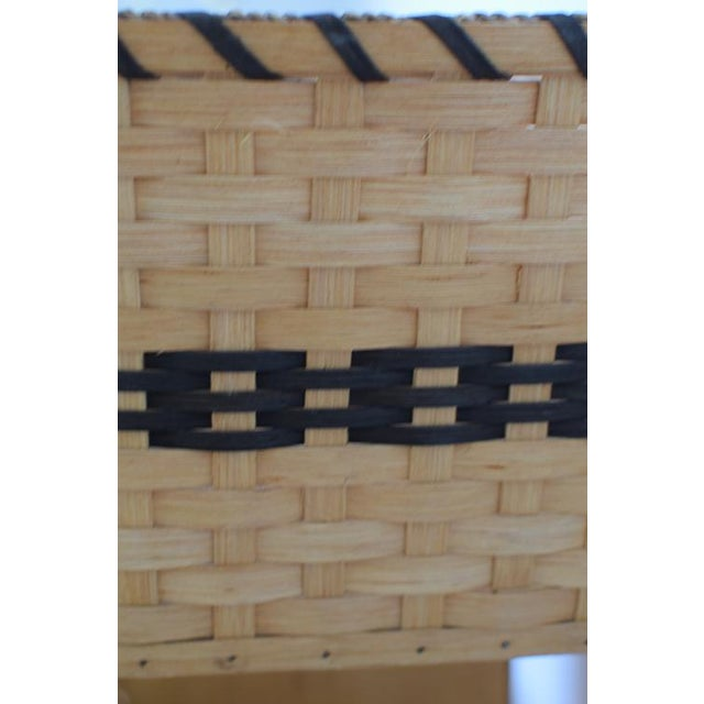 20th Century Country Amish Stair Step Basket For Sale - Image 9 of 11