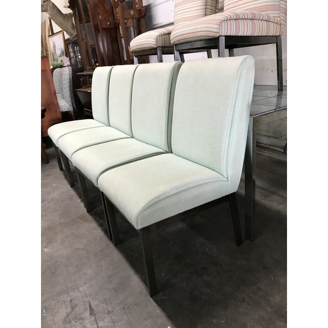We have 6 DIA Design Institute of America Mid Century Modern Upholstered Dining Chairs.