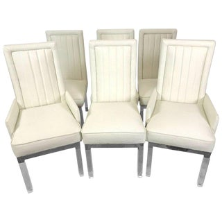 Six Charles Hollis Jones Lucite Dining Chairs For Sale