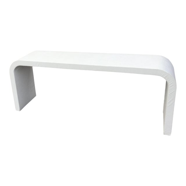 Vintage Karl Springer Style Mid Century Modern Waterfall Console Table - Image 1 of 7