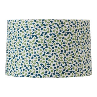 Medium Madcap Cottage Howards End Leaf Print Fabric Lamp Shade For Sale