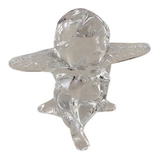 1990s Baccarat Crystal Cherub Angel Figurine For Sale