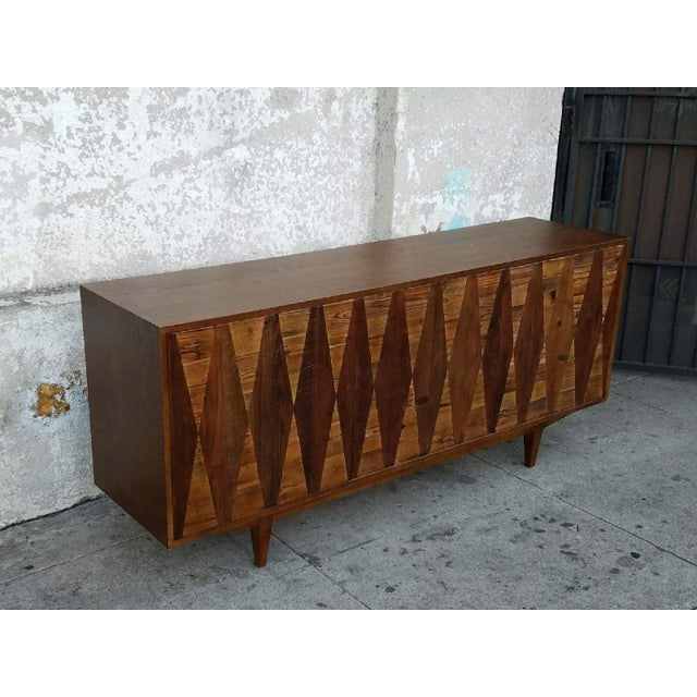 Diamond Modern Rustic Credenza For Sale - Image 5 of 6