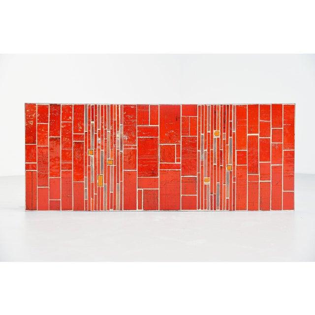 Metal Rogier Vandeweghe Amphora Ceramic Tiles Coffee Table For Sale - Image 7 of 10