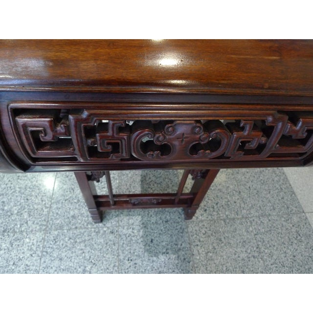 20th Century Elmwood Asian Altar Table For Sale - Image 4 of 8