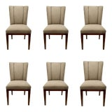 Image of Barbara Barry for Henredon Gray Paley Dining Chairs For Sale