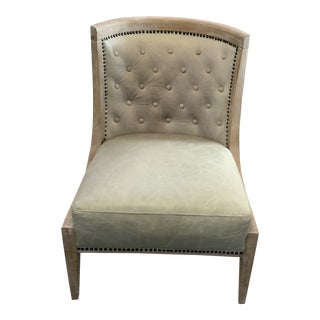 Monroe Leather Occasional Chair For Sale