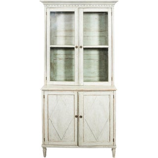 Gustavian Glass Front Bookcase For Sale