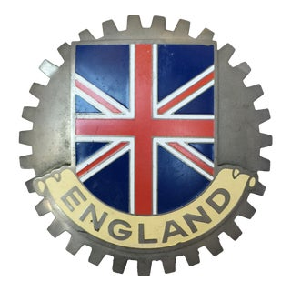 Vintage Mid-Century English Auto Badge For Sale