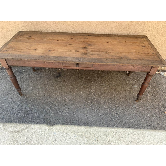 French Antique French Farm House Dining Table For Sale - Image 3 of 6