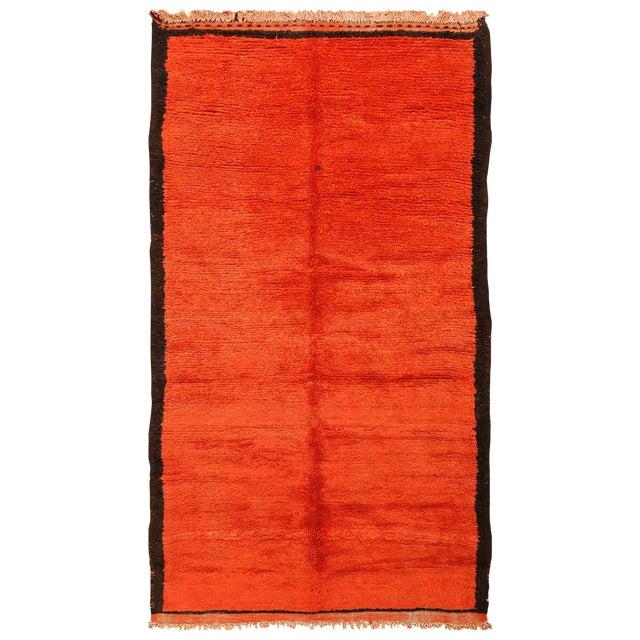 Room Size Vintage Moroccan Rug - 5′3″ × 9′ For Sale