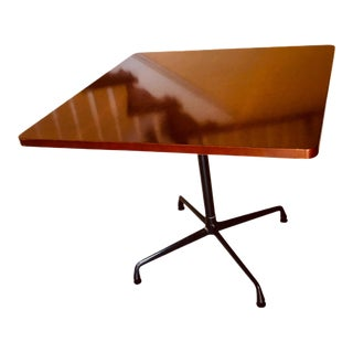 Eames Aluminum Group and Herman Miller Modern Wood and Aluminum Dining Table For Sale