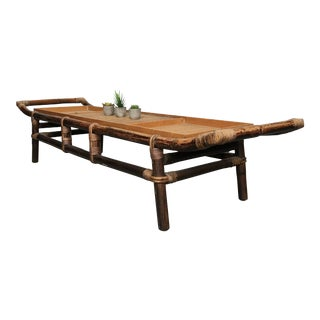 John Wisner Ficks Reed Bamboo Rattan Coffee Table