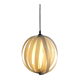 White Spherical Moon Pendant Lamp Edited by MoMA For Sale