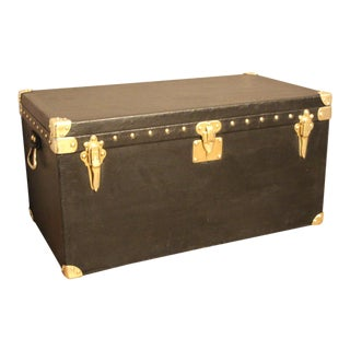 1920s Black Louis Vuitton Motoring Trunk For Sale