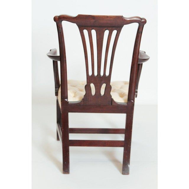 Late 18th Century Late 18th Century Chippendale Mahogany Armchair For Sale - Image 5 of 13