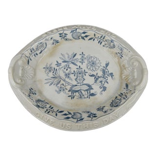 Late 19th Century Antique Bread Platter For Sale