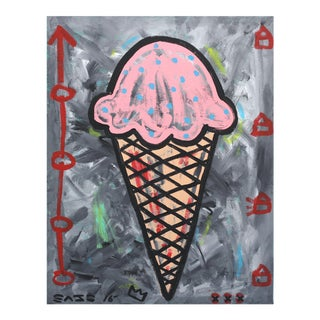 """Pink Ice Cream"" Original Artwork by Gary John For Sale"