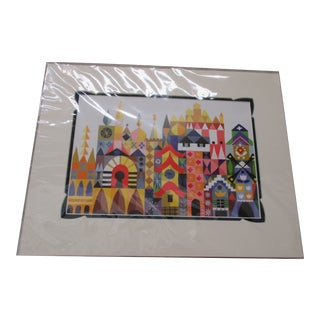 Vintage Walt Disney/Mary Blair Prints With Custom Matting #3 For Sale