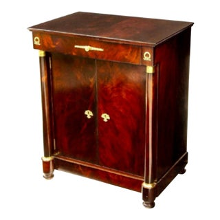 William Switzer Empire Style Flame Mahogany Cabinet For Sale