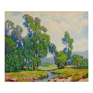 Paul Lauritz Serigraph California Landscape