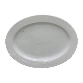 Antique French White Porcelain Platter For Sale
