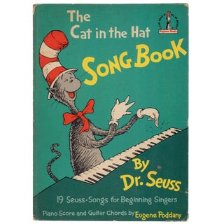 "1967 ""The Cat in the Hat Song Book"" Coffee Table Book For Sale"