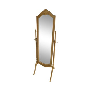 Ethan Allen Traditional White Washed Maple Cheval Mirror For Sale