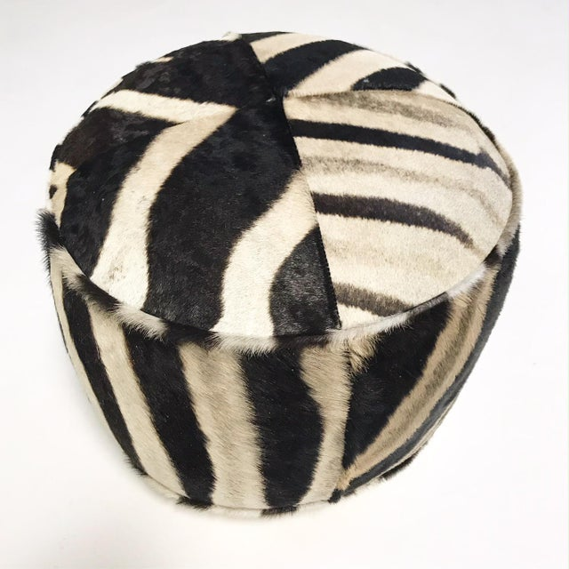 Our zebra pouf ottomans are handcrafted from our beautiful Forsyth zebra hides. The most beautiful zebra hides are...