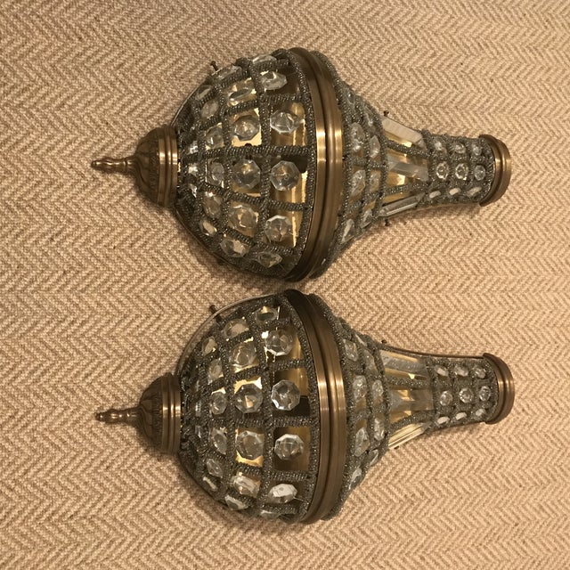 Restoration Hardware 19th C. French Empire Crystal Sconces - A Pair For Sale In Los Angeles - Image 6 of 6