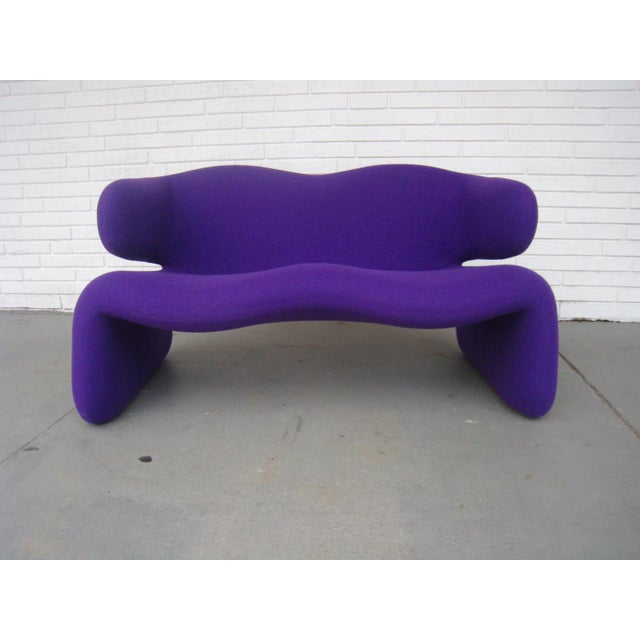 "1966 Olivier Mourgue ""Djinn"" Purple Wool Upholstered Sofa For Sale - Image 13 of 13"