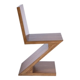 Zig Zag Chair in Brown For Sale