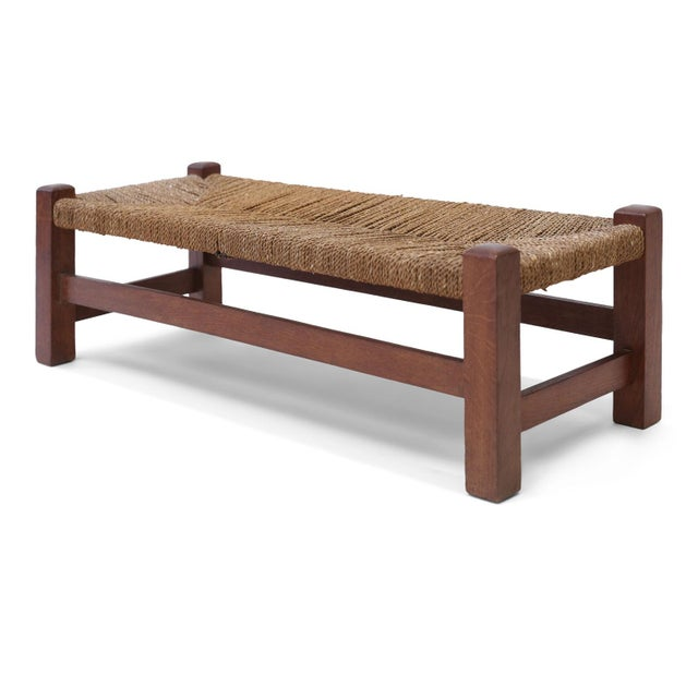 Heals Oak Long Stool For Sale - Image 10 of 10