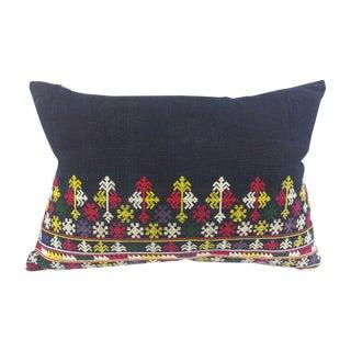 Uzbek Embroidered Indigo Pillow