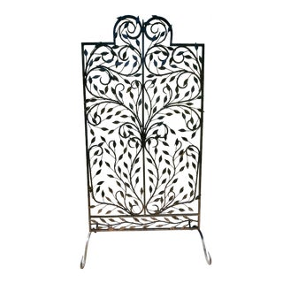 Late 20th Century Iron & Leaves Screen Panel For Sale