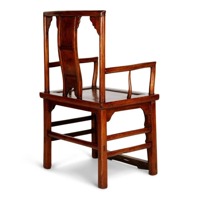 Wood Pair of Chinese Carved Throne Armchairs For Sale - Image 7 of 11