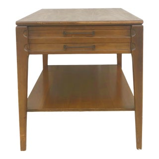 Mid Century Modern Single Drawer End Table by Mersman For Sale
