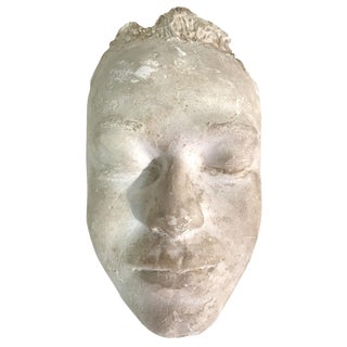 1957 Plaster Life Mask by Pat Sutton For Sale