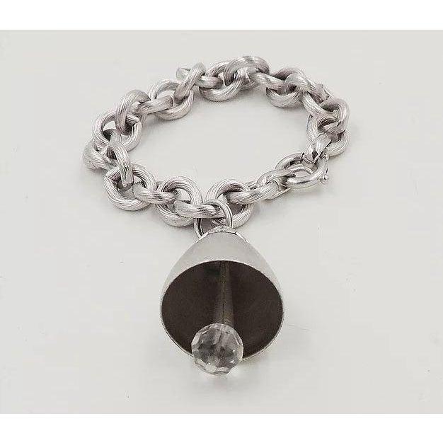 1970s 1970s Napier Bell Charm Bracelet For Sale - Image 5 of 6