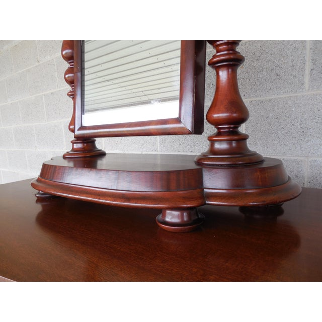 Brown Antique Empire Period Mahogany Dressing Mirror For Sale - Image 8 of 13
