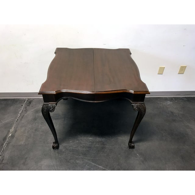 Drexel Heritage Drexel Heritage Heirlooms Chippendale Mahogany Ball Claw Card Table For Sale - Image 4 of 11